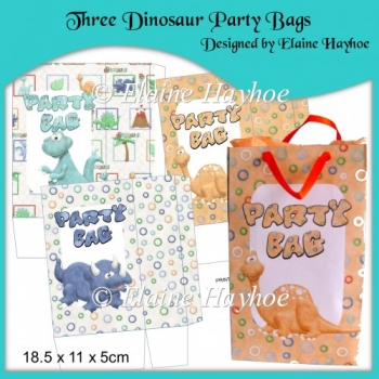 Three Dinosaur Party Bags