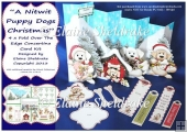 Nitwit Puppy Dogs Christmas Concertina Card Kit Tags & Bookmarks
