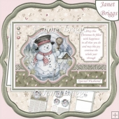 SNOWMAN Muted Christmas A5 Pyramage & Insert Kit