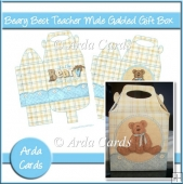 Beary Best Teacher Male Gabled Gift Box