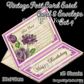 Vintage Post Card Easel Card & Envelope Set 4