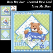 Baby Boy Bear - Diamond Panel Card