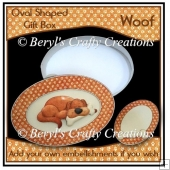 Oval Shaped Gift Box - Woof