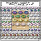 String Of Patterned Beads Set 1 CU