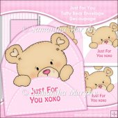 DAY 17 FREEBIE Just For You XOXO Tatty Bear Envelope Decoupage