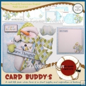 Warm Thoughts Snowman Shaped Fold Card Kit