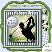 Golf Swing with Ages & Pyramage 8x8 Kit for Men