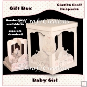 Baby Girl Gazebo Card Gift Box