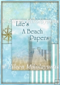 Life's a Beach Background Backing Papers Set