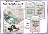 Jane Eyre Quotes Arched Pocket Card with 3 Tags
