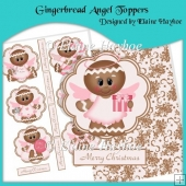 Gingerbread Angel Toppers & Backing Paper