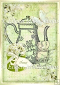 Cottage Chic Sweet Tea A4 Card Front