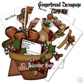 Christmas Gingerbread Recipe Decoupage Card and Envelope Kit