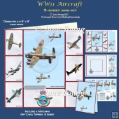 WW11 Aircraft - 3-Sheet Mini-Kit