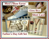 Father's Day Gift Set - Shoe Shape Favor, Shoe Box, Shirt Card