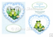 Valentine Frog - Prince Charming - Card Topper + Decoupage