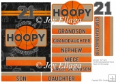 "5x7"" Card Topper 21st Birthday Basketball Theme"