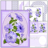 Lilac Summer Petunia PDF Cameo Pyramage Download