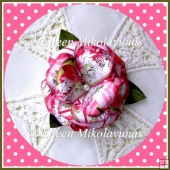 FREE Shabby Rose Paper Flower Embellishment with Directions