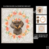 Watercolour Dachshund Mini Kit
