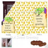 Spooky Greeting Candy Bar Cover for 1.55 ounce Candy Bar