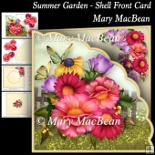 Summer Garden - Shell Front Card