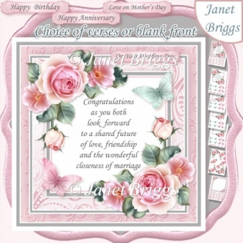 CHOICE OF VERSES & ROSES 7.5 Decoupage & Insert Kit