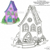 No 1 Fairies Cottage Digi Stamp PU/CU 300 dpi jpg