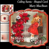 Calling Santa - Shaped Card