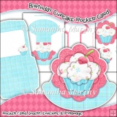 Birthday Cupcake Rocker Card Download