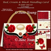 Red, Cream & Black Handbag Card