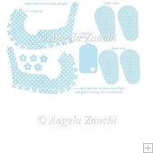 MINI BLUE SHOE TEMPLATE