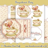 Gingerbread Lady Octagon Tag Card