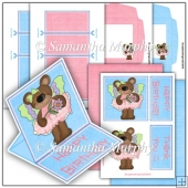 Butterfly Bears PDF Easel Card Download