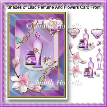 Shades Of Lilac Perfume And Flowers Card Front