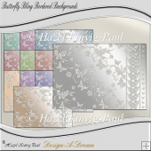 Butterfly Bling Bordered Backgrounds