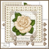 Cream Rose Basic Card Front