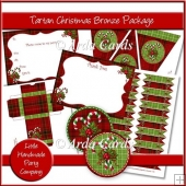 Tartan Christmas Bronze Party Set