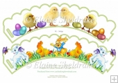 Easter Eggs, Chicks & Lambs CupCake Wrappers