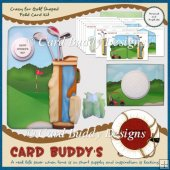 Crazy for Golf Shaped Fold Card Kit