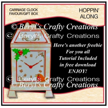 Carriage Clock Favour/Small Gift Box - Hoppin Along