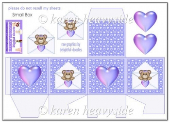 Lilac Bear In Letter Small Box(Retiring in October)