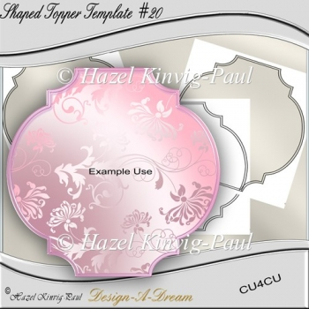 Shaped Topper Template #20