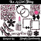 It,s A Girl Thing Digital Scrapbook Kit