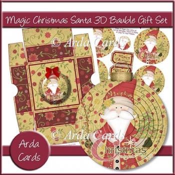 Magic Christmas Santa 3D Bauble Gift Set