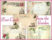 Post Cards from the Vintage Garden Card Toppers/Inserts