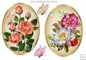two lovely flower toppers peach roses and flower arrangement