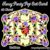 Fancy Pansy Pop Out Card & Envelope Set