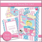 Girl In A Teacup Box Card