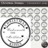 Christmas Sentiment Stamps CU